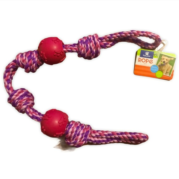 Top Paw 4 Knot 2 Ball Dog Toy